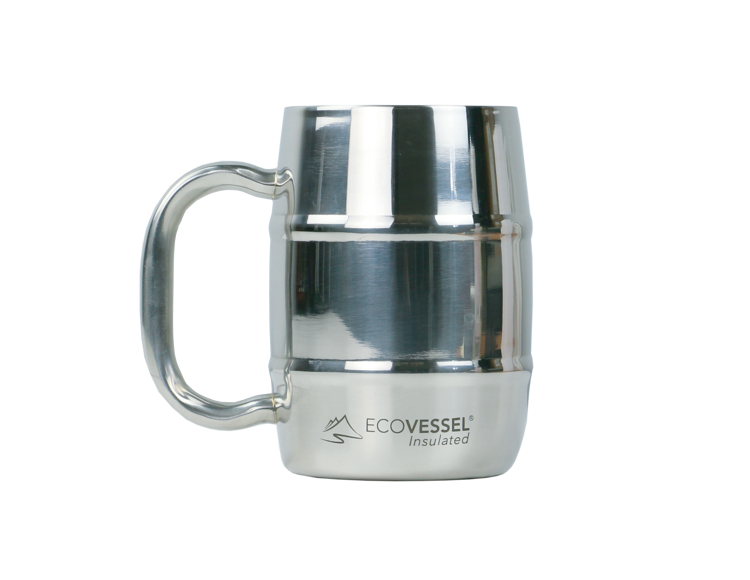Mynd Eco Vessel Double Barrel 500ml Silver Express