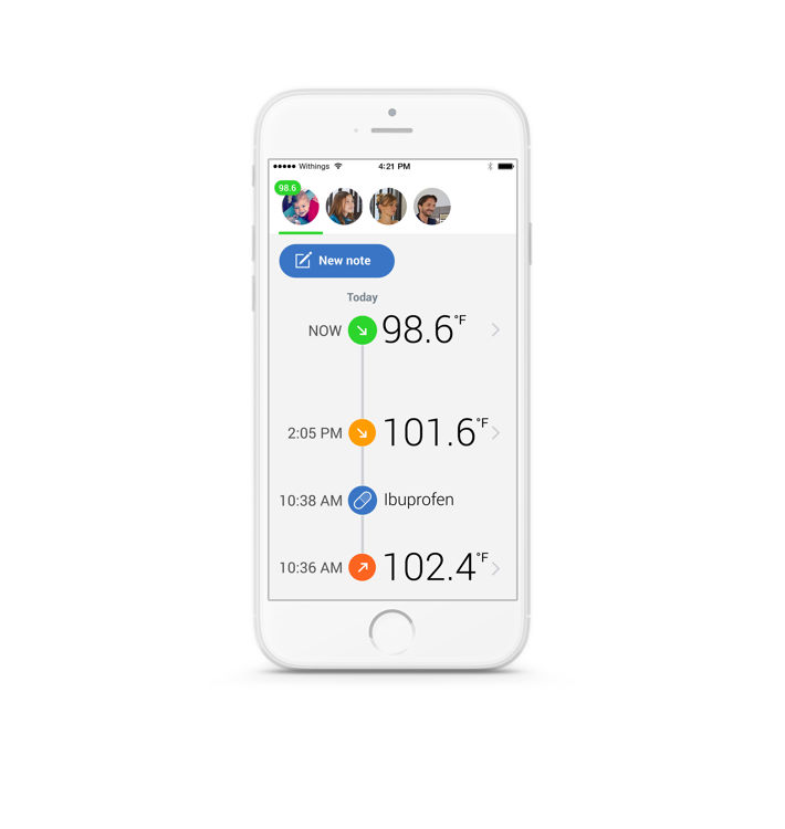 Mynd Withings Thermo hitamælir