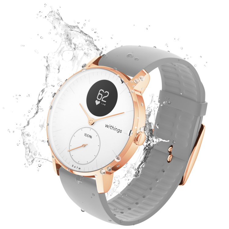 Mynd Withings Steel HR (36mm) - Rose Gold grey