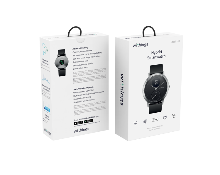 Mynd Withings Steel HR (40mm) - Black