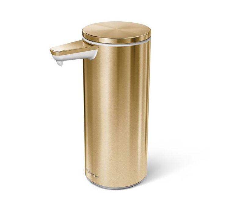 Mynd simplehuman sápuskammtari Brass