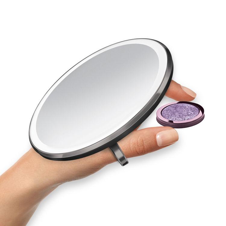 Mynd simplehuman Sensor ferðaspegill 10cm svartur