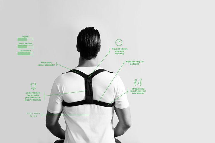 Mynd Réttstöðubelti Posture Flexi hvítt