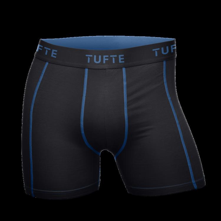 Mynd Tufte Bambus Boxer svartar/bláar