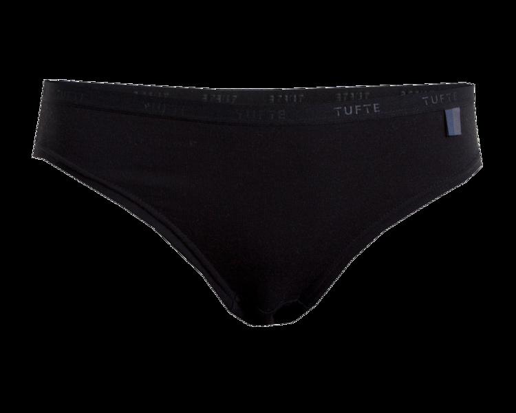Mynd Tufte Essentials nærbuxur kvenna svartar