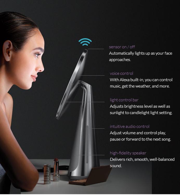 Mynd simplehuman HI-FI Sensor snyrtispegill