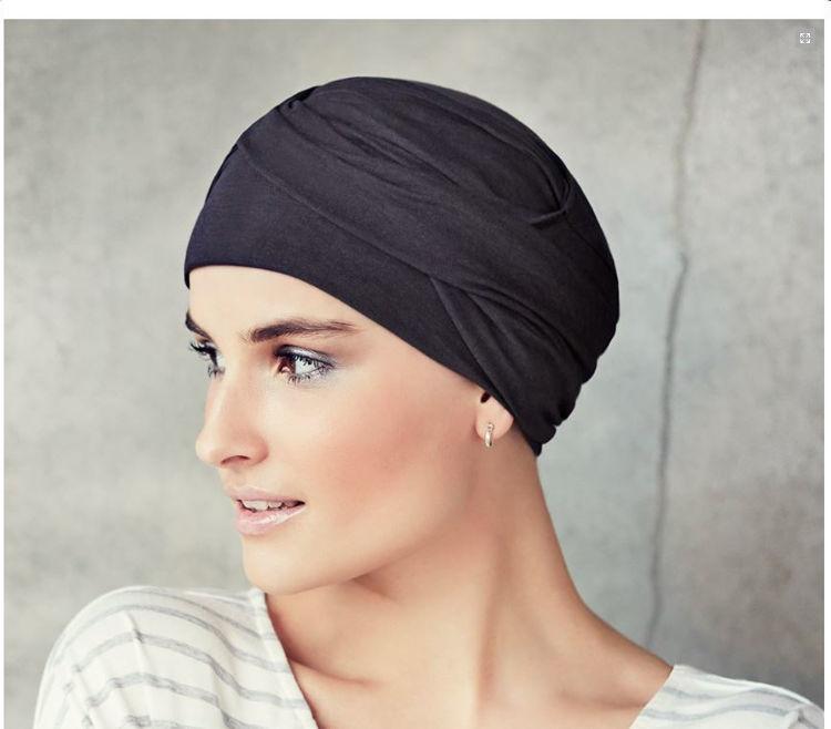 Mynd Christine - Zoya - V-turban - Dark grey melange