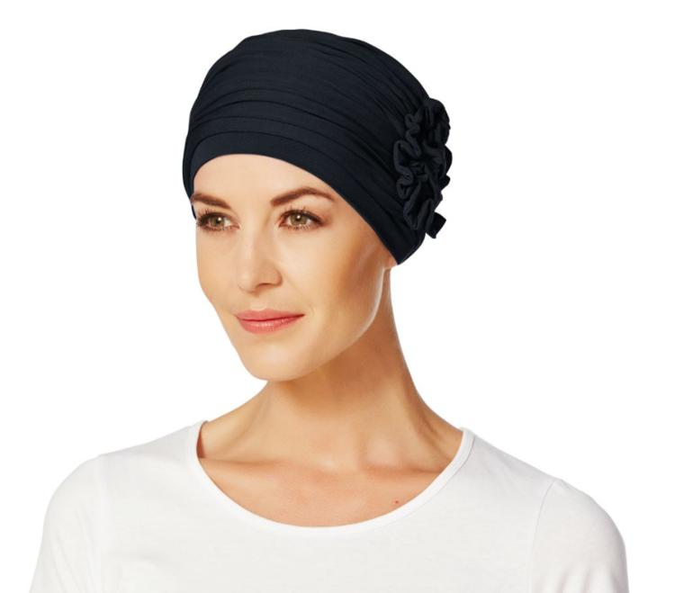 Mynd Christine - Lotus turban - Blue melange